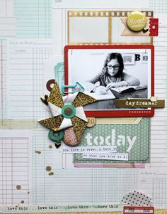 Picture 1 of Today by JustMel Kids Scrapbook, Scrapbooking Layouts, Scrapbook Pages, Studio Calico, Layout Inspiration, Scrapbooks, Paper Crafts, Read Books, Christmas Ornaments