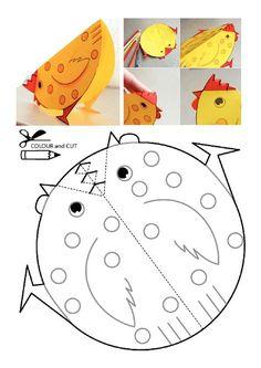 Tavuk kalıbı etkinlikleri çalışma sayfası, kalıpları etkinliği çalışmaları örnekleri sayfaları kağıdı yazdır, çıkart, indir.