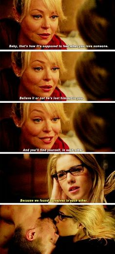 """""""He's lost himself in you. And you'll find youself, in each other"""" - Mama Smoak's ALWAYS right and Felicity #Arrow"""