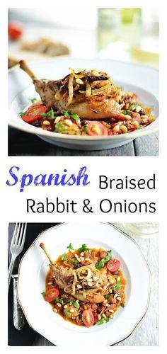 Spanish Braised Rabbit & Onions