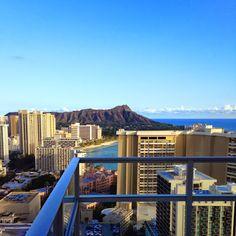 Sweeping views of the Waikiki coastline and Diamond Head from our Diamond Head Penthouse Suite.  #TrumpWaikiki #Luxury #Travel #Penthouse #View #Waikiki #DiamondHead #Vacation Trump International Hotel Waikiki Beach Walk - Google+