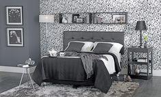 Tok&Stok Quarto Invista em couro e metal para dar um toque de requinte e sofisticação ao visual do quarto.