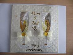 Iris Folded Anniversary card