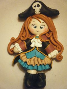 petite pirate porcelana fria polymer clay