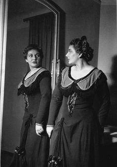 Maria Callas in her dressing room before a performance of La Gioconda at the Teatro alla Scala. (Milan, 1952)