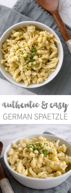 Easy German Spaetzle Recipe – ready in only 15 minutes and a great side dish for all kinds of recipes! Easy German Spaetzle Recipe – ready in only 15 minutes and a great side dish for all kinds of recipes! Side Dish Recipes, Pasta Recipes, Cooking Recipes, Soft Food Recipes, Noodle Recipes, Chicken Recipes, Pasta Dishes, Food Dishes, Food Food