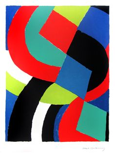 Delaunay Sonia : Lithographie signée : Valet de carreau
