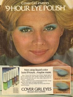 Opaque eyeshadow is a tough look to pull off, but if you take a page from this 1975 CoverGirl ad and stick with mascara only — you'll nail it.  - GoodHousekeeping.com