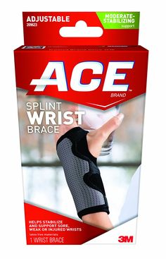 Ace Splint Wrist Brace, Reversible, One Size Adjustable *** Check out the image by visiting the link.