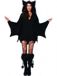 "Women's ""Cozy Bat"" Costume by Leg Avenue (Black) - 1"