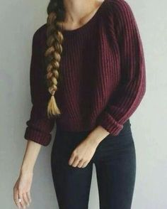 Autumn winter women sweaters and pullovers korean style long sleeve casual crop sweater slim solid knitted jumpers sweter mujer – 2019 - Sweaters ideas Tumblr Outfits, Mode Outfits, Tumblr Clothes, Winter Outfits Tumblr, Korean Outfits, Korean Dress, Look Fashion, Teen Fashion, Korean Fashion