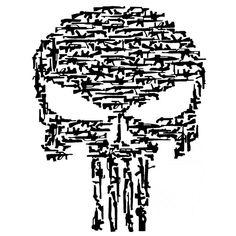 Punisher drapeau américain t shirt The punisher esthétique Graphique Hommes Noir
