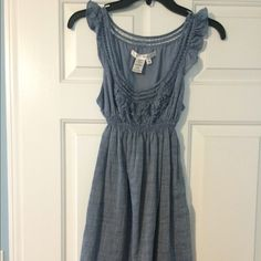 Max Studio denim dress size XS Max Studio size XS. Lightweight denim fabric. The waist is elastic and stretches Max Studio Dresses