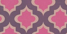 Kasbah (W0001/01) - Clarke & Clarke Wallpapers - A striking design of Indian-inspired motifs in hot raspberry pink, outlined in metallic bronze, on a mottled-effect background of royal plum. For grandeur and glamour. Additional colourways also available. Please order a sample for true colour match.