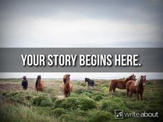 Your story begins here