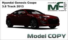 Hyundai Genesis Coupe 3.8 Track 2013 - 3D Model (3ds, 3dm, dwg, igs, max, obj, stl, ipt, ma)