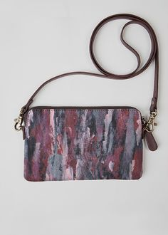 Leather Statement Clutch - VIOLETTE-LEATHER CLUTCH by VIDA VIDA