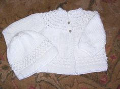 baby sweater to knit | Pattern: 5-Hour Baby Sweater and my hat patternhttp://www ...