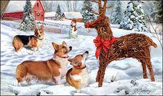 Corgi - Christmas Imposter -  by Margaret Sweeney