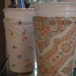 50 ideas for using up your fabric scraps...like this fountain drink cover