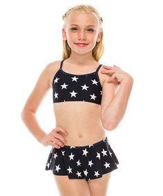 9fb8507896 This Black & White Star Skort Bikini - Toddler & Girls by Marina West is  perfect!