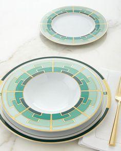 -6L8Z Vista Alegre  Emerald Dinner Plate Emerald Soup Plate Emerald Dessert Plate
