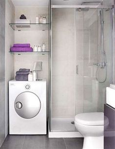 Small Bathroom With Washing Machine : Best Small Simple Bathroom Design Ideas With Shower Stone Flooring And Small Bathroom With Washing Machine. bathroom,machine,small,washing,with Beautiful Small Bathrooms, Very Small Bathroom, Modern Small Bathrooms, Simple Bathroom Designs, Modern Laundry Rooms, Laundry Room Bathroom, Tiny House Bathroom, Laundry Room Design, Bathroom Design Small
