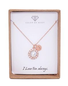 Simple and elegant a luxe halo style Clear Round Cubic Zirconia drop necklace with a personalised initial come on a rose gold FILLED chain. The luxe cubic zirconia teardrop not only has a big round drop cz stone in the middle, but surrounded by tons of small round cubic zirconia. Seriously, how much more sparkle can we ask for.  Listing represents (1) necklace only. Perfect gifts for yourself and loved ones. Perfect for bridal shower gifts, bridesmaid necklace.  ✦ Necklace: rose gold FILLED…