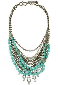 Turquoise and chain.