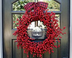 Christmas Wreath - Berry Wreath - Holiday Wreath - Front Door Wreath - Welcome Wreath - Wreath - Berry - Holiday Decor - Christmas Decor by TheSeptemberTree on Etsy https://www.etsy.com/listing/208971654/christmas-wreath-berry-wreath-holiday