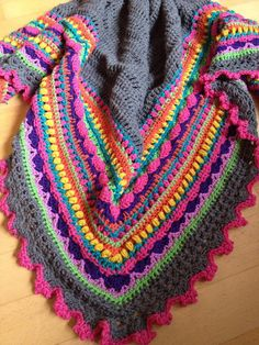 Sunday Shawl - crochet pattern from The Little Bee https://www.etsy.com/nz/listing/196313873/crochet-shawl-pattern-instant-download?ref=shop_home_feat_1 photo credit Sabine