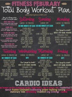 weekly workout plan.