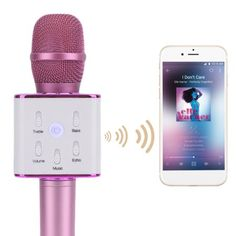 Upgraded microphone Compact Size Noise Cancelling Mobile Phone BL-tooth Microphone Super Bass KTV Player Singing Microphone For Iphone, Pink Singing Microphone, Iphone 8, Iphone Cases, Baby Doll Nursery, Home Gadgets, Accessoires Iphone, Cool Electronics, Photo Printer, Electronic Gifts