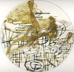 Ignacio Klindworth. #Ecosistema de la charca. Obra sobre papel y técnica mixta 30x30. Madrid 2006. www.ignacioklindworth.es