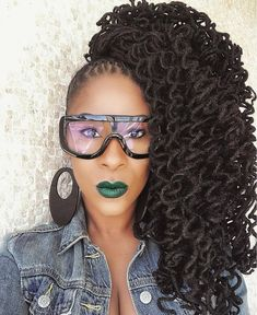 LocNationTheMovement — Tag a beautiful woman with locs! Dreadlock Hairstyles, Cute Hairstyles, Braided Hairstyles, Black Hairstyles, Wedding Hairstyles, Be Natural, Natural Styles, Natural Dreads, Dreads Styles