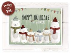Custom Christmas Card Custom Christmas Cards, Personalised Christmas Cards, Holiday Cards, Holiday Decor, Last Minute Holidays, Happy Holidays, Merry Christmas, Christmas Ornaments, Happy New Year