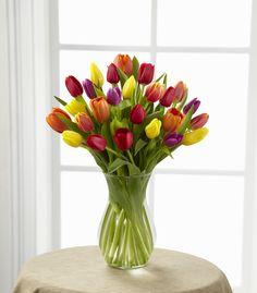 Arreglo de Tulipanes de Colores