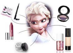 2014 Disney Inspiration Elsa Frozen Makeup- 2014 Halloween Party Snow Queen Beauty  #2014 #Halloween