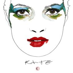Kate Moss by Mario Testino - illustrated by Chiara Rigoni #fashionillustration #illustration #chiararigoni #katemoss #mariotestino #model