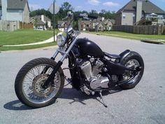 '01 vlx 600 Honda Shadow Bobber, Honda Bobber, Yamaha Virago, Bobber Bikes, Bobber Motorcycle, Bobber Chopper, Honda Motorcycles, Harley Davidson Motorcycles, Custom Motorcycles