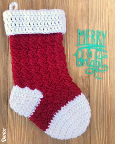 christmas is just around the corner and i like to get an early start on my - Free Crochet Christmas Stocking Pattern