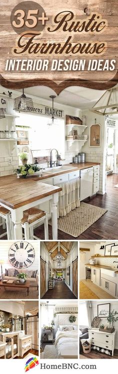 Rustic Farmhouse Interior Design Ideas #InteriorDesignRustic