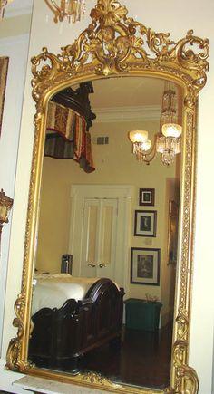 Gold, gilded, antique, pier mirror