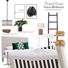 Mood Boards, Tropical, Bedroom, Furniture, Home Decor, Decoration Home, Room Decor, Bedrooms, Home Furnishings