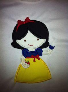 Adorable Girl's Snow White Disney Princess Tee Shirt by Sewmomma2