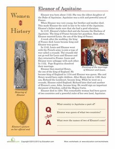 Worksheets: Women in History: Eleanor of Aquitaine