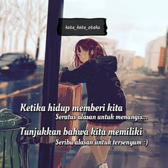 "kata kata otaku di Instagram ""Hitung aja tuh,nangis kalian sama senyum kalian mana yg lebih bnyk😄 smile :) Tag juga temen kalian👍 ➖➖➖➖➖➖➖➖➖➖➖➖. . follow kuy 👍😃…"" Story Quotes, Sad Quotes, Qoutes, Life Quotes, Anime Motivational Quotes, Inspirational Quotes, Self Motivation, Quotes Motivation, Quotes Galau"
