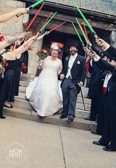 My beautiful friends' Will & Kara's amazing wedding! #Starwars #Vintage #awesome #truelove