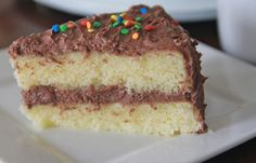 Fluffy, Moist Homemade Yellow Cake Recipe | Divas Can Cook.  Bet this would make a great funfetti cake, too.