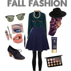 Fall fashion by nicoledalyn on Polyvore featuring polyvore, fashion, style, QNIGIRLS, Lipsy, French Blu, MANGO, Ray-Ban, MAC Cosmetics, Estée Lauder, Charlotte Tilbury and Maybelline